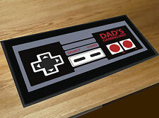 Dad's Gamers mat retro control pad print gamer fathers day beer bar runner