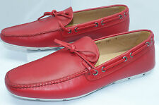 Prada Mens Red Shoes Calzature Uomo Loafers Drivers Size 10 Slip Ons Leather NIB