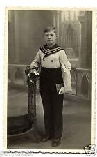 Photo ancienne portrait jeune garçon en communiant habillé marin - an. 1920