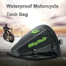 Pro-biker Motorcycle Tank Bag Leather &Mesh Riding Backpack Tail Luggage WB G2Q1