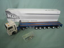 AA895 CONRAD CAMION MINIATURE  MAN TEX 33540 VOSS INTERNATIONAL GOLDHOFER 1/50