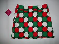 LOUDMOUTH Ladies GOLF JINGLE BALLS SKORTS skirt shorts womens Size 0  NEW wTAGS