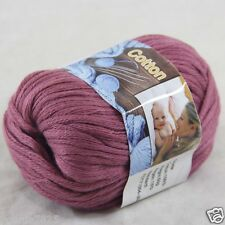 Sale New 1 Skein x 50g Soft Pure Cotton Chunky Super Bulky Hand Knitting Yarn 35