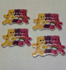 4 Care Bear resin flatback embellishment, 40mm x 25 mm for cakes, crafts & bows