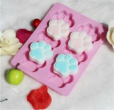 Cute Dog Cat Feet Paw Silicone Soap Mold Chocolate Cake Baking Bakeware Mould