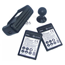 2x Extended Slim battery + Dock Charger + Stand Holder for LG Optimus F6 MS500