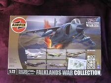 AIRFIX 1/72 FALKLANDS WAR COLLECTION *NEW* Harrier Skyhawk Etendard Pucara 98670