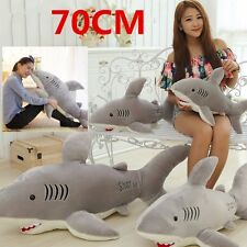70cm Cute Soft Shark Shaped Plush Toy Pillow Back Cushion Doll Gift Animal Pet