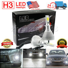 2x 60W 6000LM H3 CREE LED Lamp Headlight Kit Car Beam Bulbs 6000k White 12V