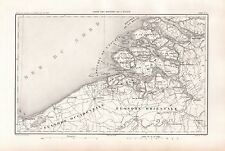 1859 DUVOTENAY MAP-NETHERLANDS-MOUTH OF THE ESCAULT ZEELAND ANVERS FLANDERS MEUS