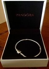 AUTHENTIC PANDORA NEW BARREL CLASP BRACELET 590702HV S 925   ALE 7.1¨ 18Cm