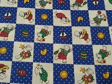 Cheater Quilt Block Print BTY The Kesslers for Concord Teddy Bear Ducky Kid