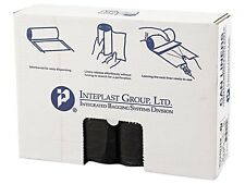 Inteplast Group S334016K High-Density Can Liner, 33 x 40, 33gal, 16mic, Black, 2