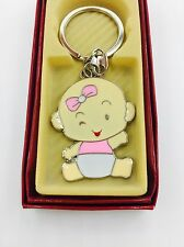 12-Baby Shower Girl Party Favors Keychains  Recuerdos De Nina Llaveros