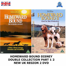 HOMEWARD BOUND DISNEY DOUBLE COLLECTION PART 1 2 BRAND NEW AND SEALED UK R2 DVD