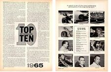 1965 HOT ROD TOP TEN DRAG RACE DRIVERS  ~  ORIGINAL 2-PAGE ARTICLE