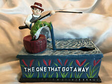 """Collectible Classic """"The One that Got Away"""" Die-Cast Mechanical Bank"""