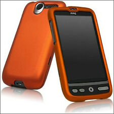 For HTC Desire Rubberized Protector Hard Case Snap on Phone Cover Rubber Orange