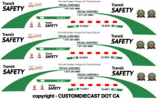 1/24 SCALE GO TRANSIT SAFETY DODGE CHARGER DECALS -  DOES 3 CARS NEW RELEASE!!!!