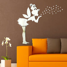 Mirror Style Decal Art Mural Wall Sticker Home Decor - Angel + Stars NEW