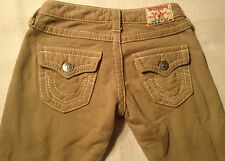 EUC- As New-RRP $359- Womens' True Religion Brand 'JOEY BIG T' Track Pants Jeans