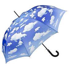 Parapluie Automatique bleu Nuages Femme Homme blanc Bavarois Bleu ciel 5765A