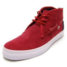 Lacoste Croxton Mens Mid-Top Red/Navy Casual Shoes