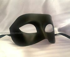 Mens Masquerade for boys men Classic costume midnight party Black white eye mask