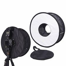 "18""/ 45CM Macro Ring Flash SoftBox Diffuser for Canon 600EX-RT 580EX II 430EX II"