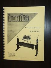 Irontite Pressure Tester Instruction and Parts Manual