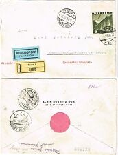 Österreich Airmail Einschreib-Brf Graz - Wien - Prag n. Bürgstein Haida 1936