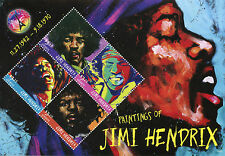 Grenada 2016 MNH Paintings of Jimi Hendrix 4v M/S Rock Stars Celebrities Stamps