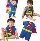 Baby 0-24Month Superman Batman Fancy Costume Newborn Cotton Romper Jumpsuit 0-24