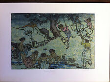 """Woodcut art from Korea - 8"""" x 11"""" signed and dated"""