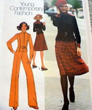LOVELY VTG 1970s JACKET SKIRT & PANTS Sewing Pattern 14/36