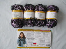 200g (4 x 50g Balls) Bianca Effect Knitting Yarn/Wool Purples and Lilacs