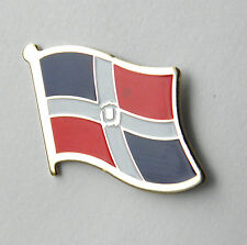 DOMINICAN REPUBLIC INTERNATIONAL COUNTRY SINGLE FLAG LAPEL PIN BADGE 3/4 INCH