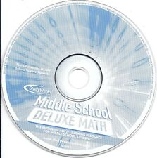 Middle School Deluxe Math Cd only -Student Learning Science Projects StudyWorks!