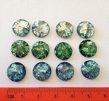 Blue and Green gemstone like plastic Flatbacks embellishments Dress It Up 5960