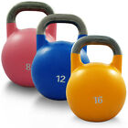 SET OF 8KG 12KG 16KG COMPETITION STEEL KETTLEBELL PRO GRADE GYM CROSSFIT WEIGHTS