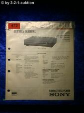 Sony Service Manual CDP C500 CD Player (#0472)