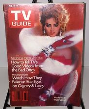 TV Guide Magazine August 10-16 1985 Madonna No Mailing Label & Clean Crossword
