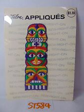 1970'S VINTAGE EMBROIDERED PATCH HIPPIE-MID CENTURY MAYAN TOTEM POLE INDIAN