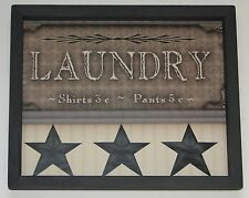 Laundry Wall Decor 9 inch x 11 inch Primitive Country Laundry Room