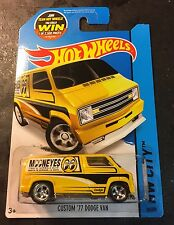 Hot Wheels CUSTOM Super Mooneyes 77 Dodge Van w Real Riders