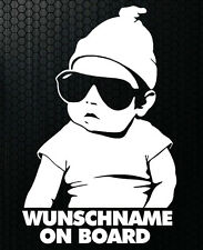1x Aufkleber WUNSCHNAME ON BOARD Sticker Hangover Baby Auto Kind fährt mit FUNx