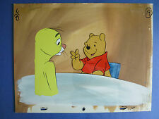 Winnie the Pooh Production Cel, Pooh at table with Rabbit