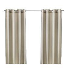 IKEA PARLBUSKE Long Curtains,1 Pair,Beige,145x300 cm,57 x 118 inches,Rich Look
