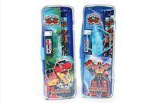 Power Rangers Dino Force Stationery Set Pencil Case Eraser School Boy Blue