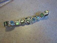 Mother of Pearl Sterling Silver 7 inch bracelet Signed SEA